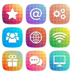 Trendy icon for Web and Mobile element vector image