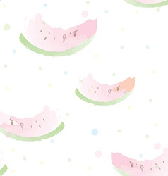 Watermelon seamless pattern artistic watercolor vector image