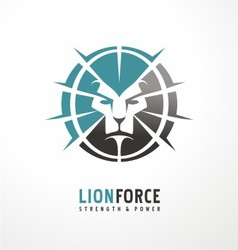 Lion head creative logo design vector image