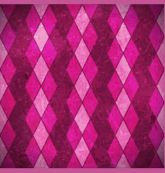 Pink purple rhombuses grunge background vector image vector image
