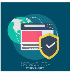 technology web security earth security logo backgr vector image