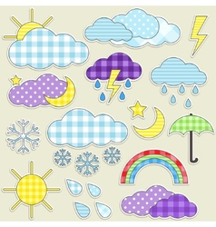 weather stickers vector image