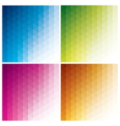 abstract geometric backgrounds with triangles vector image