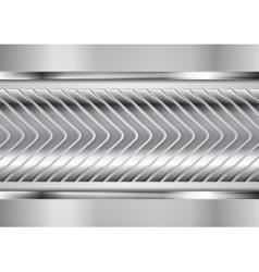 Abstract metallic arrows tech design vector