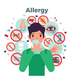 allergy concept vector image