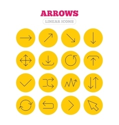 Arrow download refresh and fullscreen symbols vector image