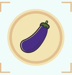 Aubergine color icon vector
