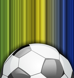 Background with soccer ball Brazil 2014 football vector image