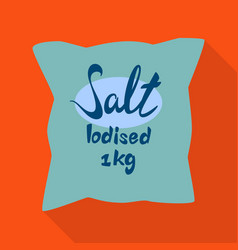 Bag and salty sign vector
