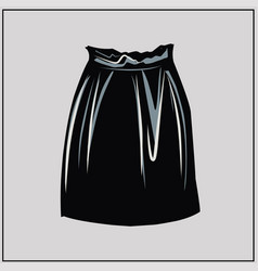 black faux leather skirt basic wardrobe vector image