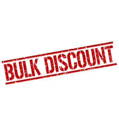 Bulk discount stamp vector