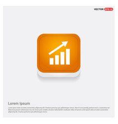 business graph icon orange abstract web button vector image