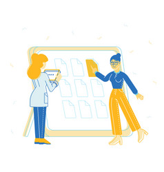 business team working together planning vector image