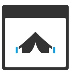 Camping Calendar Page Toolbar Icon vector
