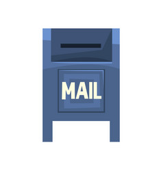 Cartoon of blue outdoor mailbox vector