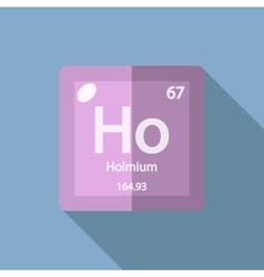 Chemical element Holmium Flat vector image