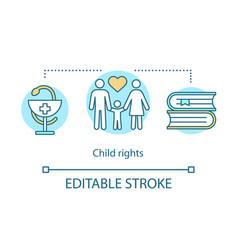 Child rights concept icon vector
