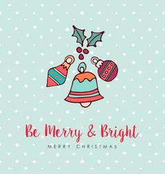christmas holiday bauble decoration cartoon card vector image