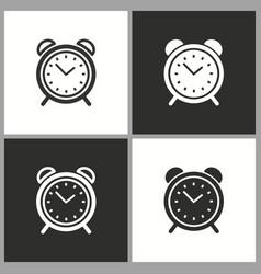 Circular alarm clock icon button for vector