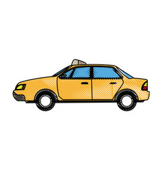 Commercial transport taxi cab modern public vector