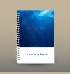 Cover of diary dark blue polygonal pattern vector