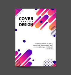 covers design with geometric rounded lines vector image