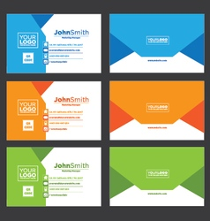 Creative Envelope Business Card vector