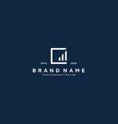 Creative letter c financial chart logo design vector