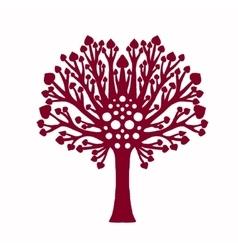 Decorative family tree plant vector