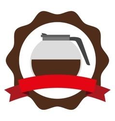 delicious coffee teapot icon vector image