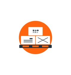Delivery logistics services icon move boxes vector