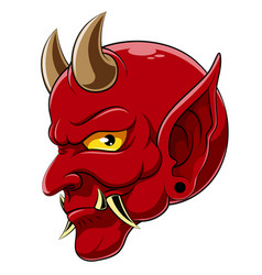 Devil head demon satan halloween monster vector