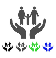 family care hands flat icon vector image