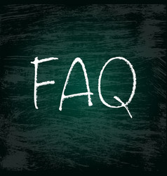 Faq grunge background vector