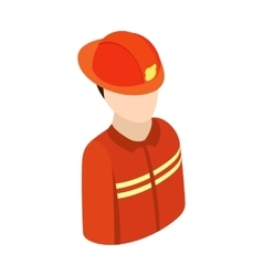 Fireman isometric 3d character icon vector image vector image