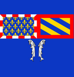 Flag of montbard in beaune of cote-dor of vector