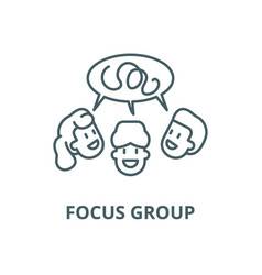 focus group line icon linear concept vector image