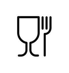 Food grade plastic icon isolated on white vector