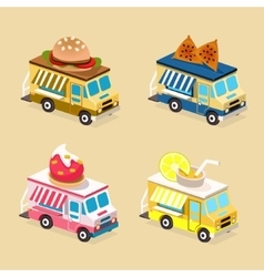 Food Truck Designs Collection of Icons vector image