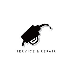 Gas service repair theme vector