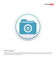 Gear box icon - white circle button vector