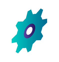 gear wheel icon isometric style vector image