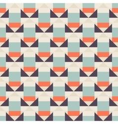 Geometric color blocked pattern vector