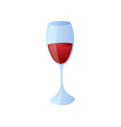 glass red wine for home lunch or bbq time vector image