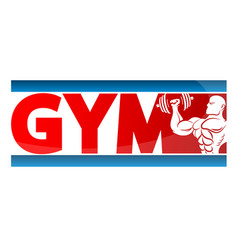 gym banner concept vector image