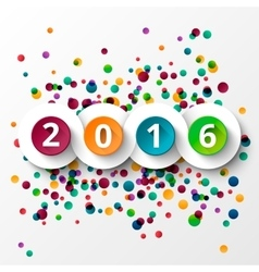 Happy new Year 2016 celebration vector image