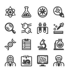 laboratory icon set vector image