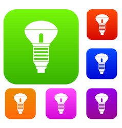 led bulb set collection vector image