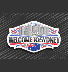 logo for sydney vector image