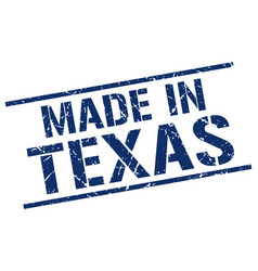 made in texas stamp vector image